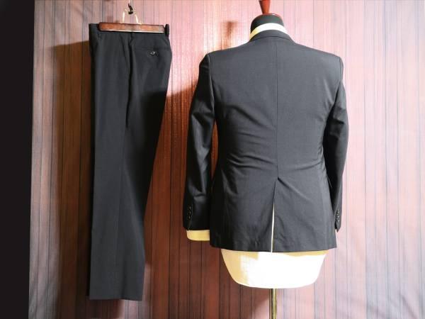 ウォッシャブル 濃紺・ネイビー YA4(42)程度 スタイリッシュスリムスーツ _画像2