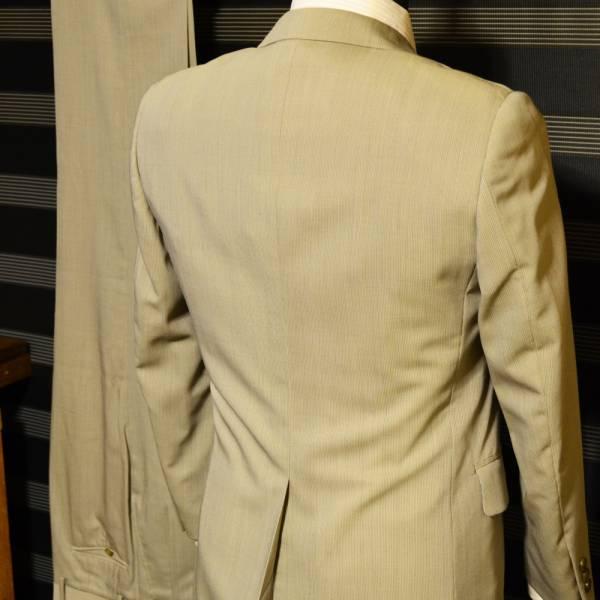 美品・売り切り  ベージュストライプスーツ JIMFORD A3 落ち着きのある印象42_画像2