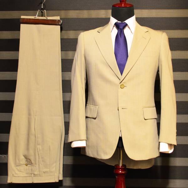 美品・売り切り  ベージュストライプスーツ JIMFORD A3 落ち着きのある印象42