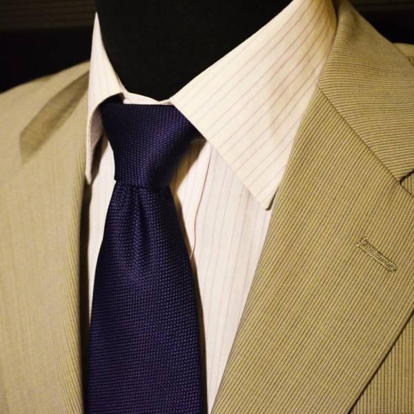 美品・売り切り  ベージュストライプスーツ JIMFORD A3 落ち着きのある印象42_画像3