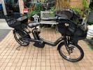 自転車40 2016年購入 子供乗せ ヤマハ PAS kiss mini PM20K マットオリーブ 8.7Ah 車体&バッテリー極めて良好!