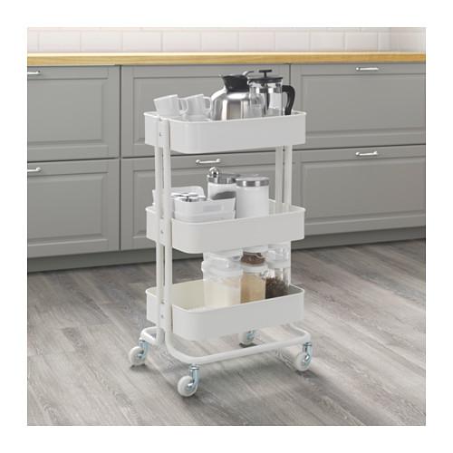 ■イケア/IKEA RASKOG キッチンワゴンキャスター付き ホワイト_画像2