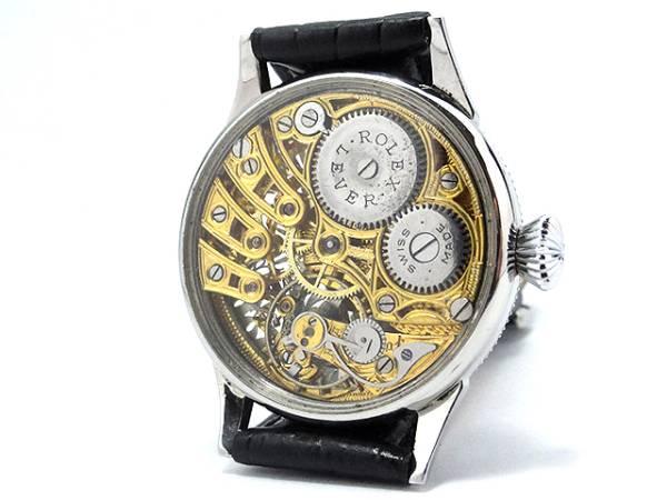 超希少★ROLEX ロレックス アンティーク フルスケルトン 手巻き 腕時計 42mm 1910-1920年代_画像3