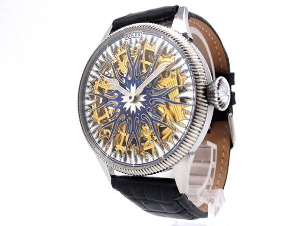 超希少★ROLEX ロレックス アンティーク フルスケルトン 手巻き 腕時計 42mm 1910-1920年代_画像2
