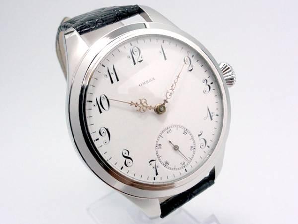 極希少★OMEGA オメガ アンティーク 裏スケルトン 手巻き 腕時計 エナメルダイヤル
