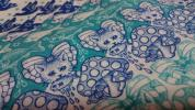 廃版レア★ジョリーポム【メタモルフォーゼ 騙し絵 変身/ロイヤルブルー】110cm×53cm