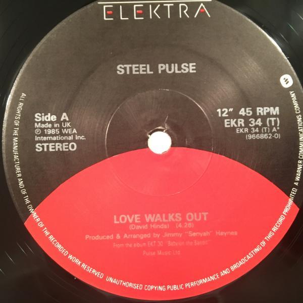 ★Steel Pulse/Love Walks Out★大穴UK LOVERS隠れ名曲!_画像2