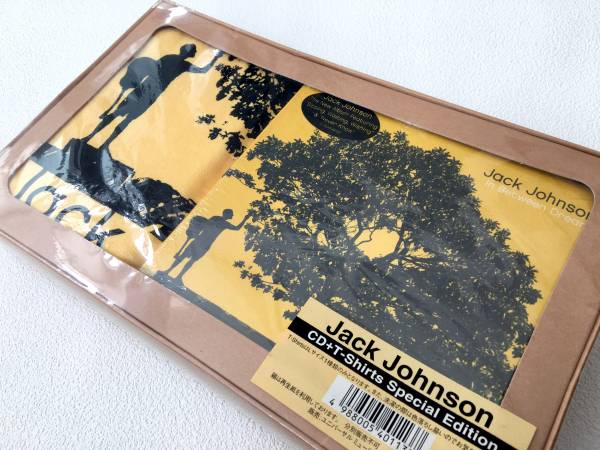 Jack Johnson(ジャック・ジョンソン )/In Between Dreams Tシャツ【L】付限定CD※正規品・新品未使用