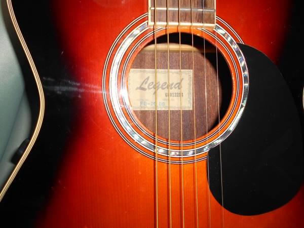 Aria Legend FG-20BS OOOタイプフォークギター PU付き エレアコ仕様 使用感少 即決送料無料