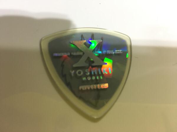 レア美品 yoshiki ギターピック ライブグッズの画像