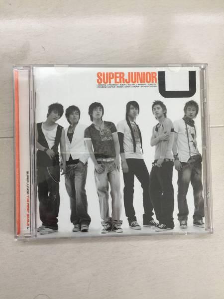 韓国 K-POP SUPER JUNIOR(スーパージュニア)THE FIRST SINGLE U 韓国盤CD サイン付き ライブグッズの画像