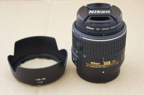 美品 Nikon AF-S DX NIKKOR 18-55mm f3.5-5.6G VR Ⅱ フード、フィルター付属!