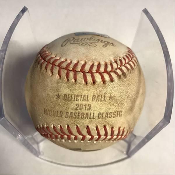 WBC使用ボール!、2013年韓国vs.台湾、MLB管理サイトの履歴保証付き!(060168)