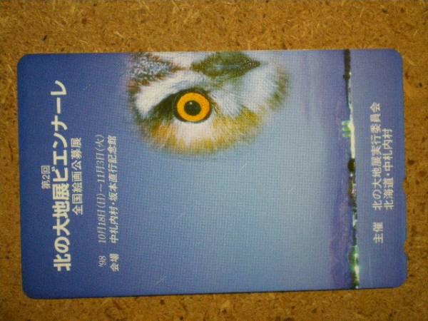 doub・鳥 フクロウ 北海道 中札内村 第2回北の大地展ビエンナーレ テレカ_画像1