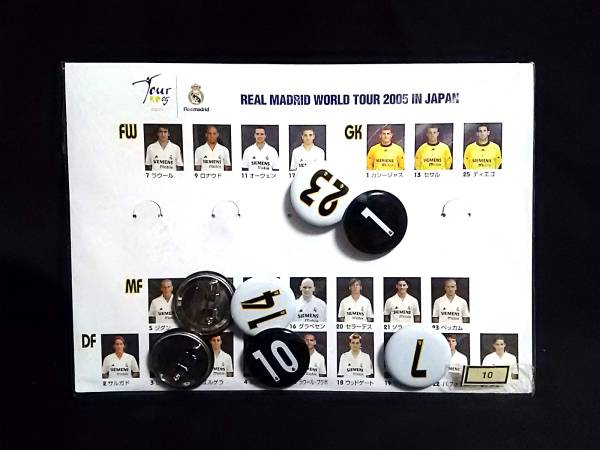レアルマドリード REAL MADRID WORLD TOUR 2005 IN JAPAN 缶バッジ グッズの画像