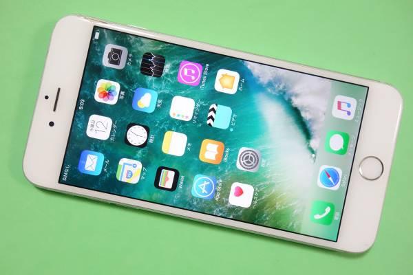 786 iPhone6Plus シルバー 64GB 判定○ ジャンク割れあり