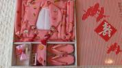【良品美品】七五三 三歳 女児被布着物セット 日本製陽気な天使