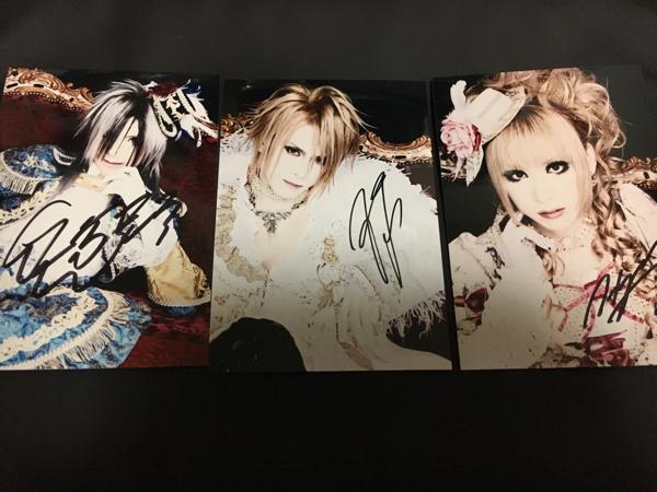Versailles 直筆サイン入り生写真セット