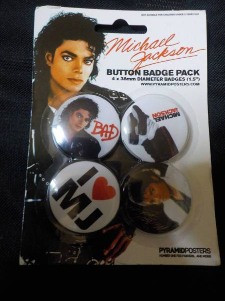 ●○マイケルジャクソン 缶バッチ12個 未使用未開封○●