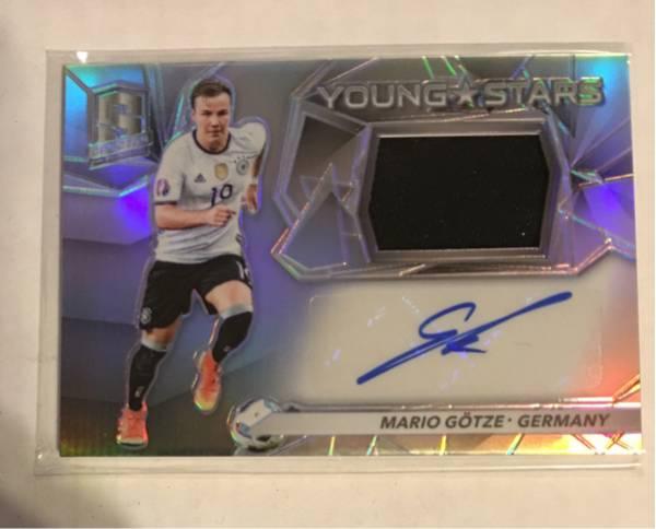 16-17 Spectra Soccer Mario Gotze 49/99枚限定Jersey Auto ゲッツ サイン ドルトムント ドイツ グッズの画像