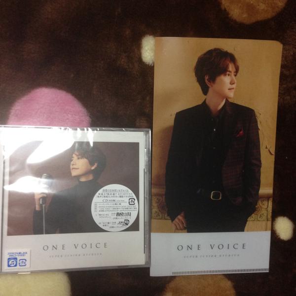 スーパージュニア キュヒョン「one voice」CD初回盤 ライブグッズの画像