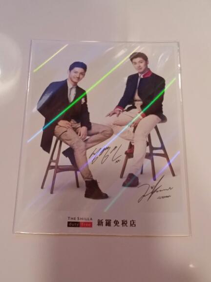 新羅免税店 東方神起 最新 非売品 ホログラムポストカード
