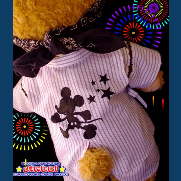 ●甚平型紙●ダッフィー&シェリーメイ●着物・浴衣・和服・中折れハット●服・衣装・コスチューム・ディズニー●夏祭り・花火●DS37_画像3