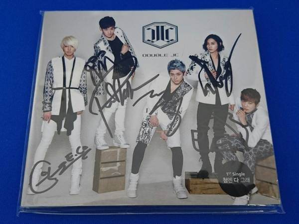 JJCC (DOUBLE JC) 直筆サインCD / 1st Single (非売品)