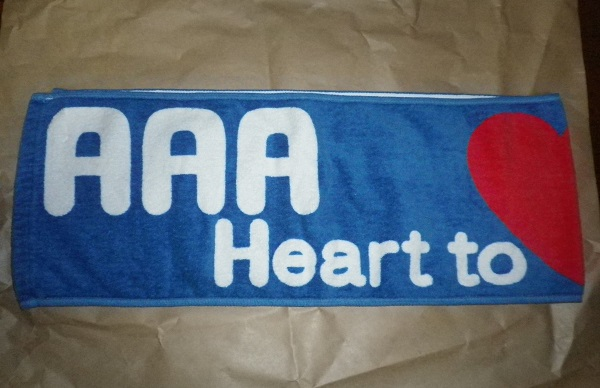 AAA マフラータオル(ブルー)「AAA Heart to (Heart) TOUR 2010」