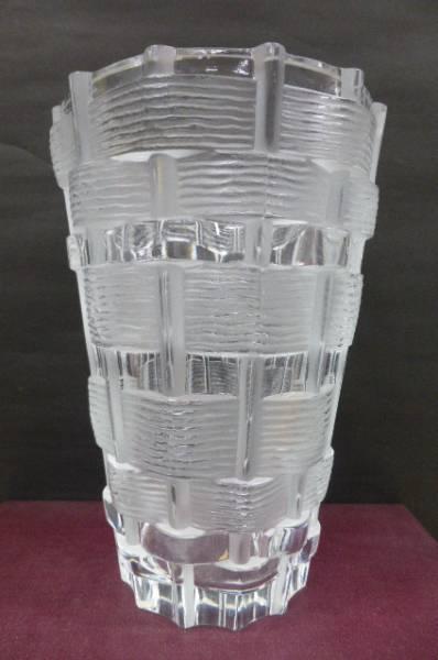 ★共箱・美品★ ラリック クリスタル LALIQUE クリスタル花瓶 フラワーベース 花瓶 花器 高さ24cm_画像1