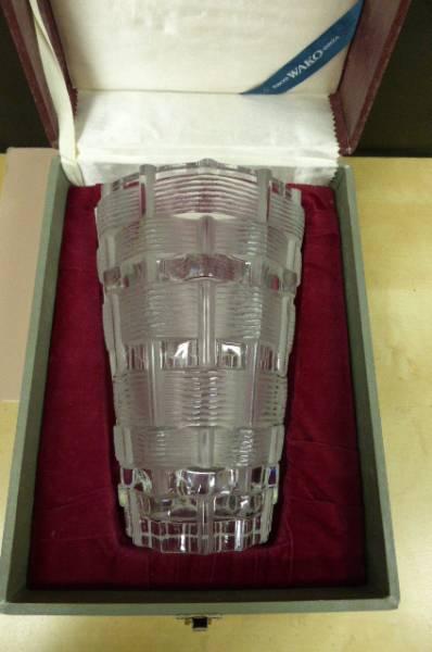★共箱・美品★ ラリック クリスタル LALIQUE クリスタル花瓶 フラワーベース 花瓶 花器 高さ24cm_画像2