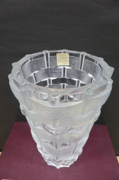 ★共箱・美品★ ラリック クリスタル LALIQUE クリスタル花瓶 フラワーベース 花瓶 花器 高さ24cm_画像3