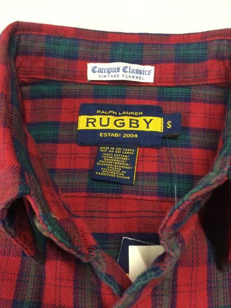 新品 7750 Sサイズ rugby ラグビー ビンテージ ネル 長袖 シャツ us polo ralph lauren ポロ ラルフ ローレン_画像3