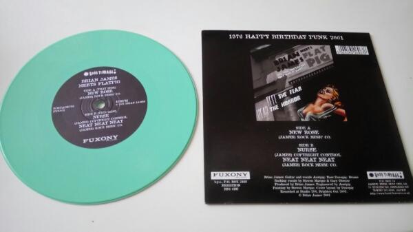 激レア 重量盤カラーレコード New Rose 2001 BRIAN JAMES MEETS FLATPIG The DAMNED THE LORD OF THE NEW CHURCH