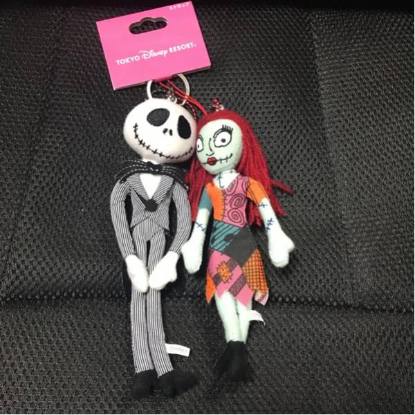 東京ディズニーリゾート限定ジャック&サリー ぬいぐるみストラップ 新品未使用 ディズニーグッズの画像