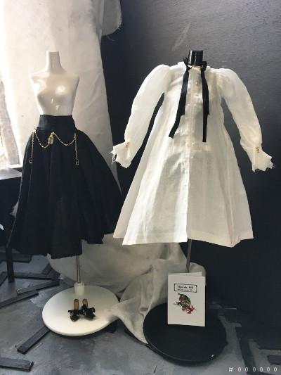 カスタムmomoko  Handle blouse dress girl by #000000_画像3