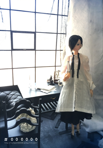 カスタムmomoko  Handle blouse dress girl by #000000_画像1