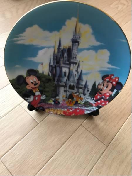 東京ディズニーランド プレート 皿 中古 ミッキー ミニー ディズニーグッズの画像