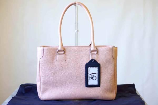 ADMJ エーディーエムジェイ トートバッグ ハンドバッグ 鞄 定番 日本製 レディース レザー 革 ピンク b6571_画像1