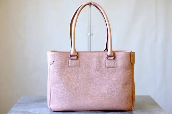 ADMJ エーディーエムジェイ トートバッグ ハンドバッグ 鞄 定番 日本製 レディース レザー 革 ピンク b6571_画像2