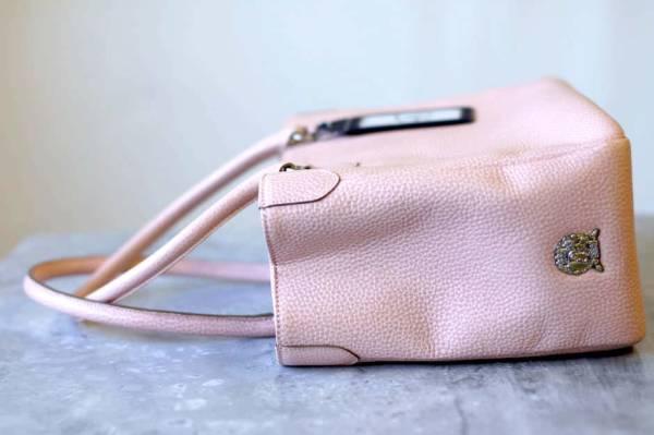 ADMJ エーディーエムジェイ トートバッグ ハンドバッグ 鞄 定番 日本製 レディース レザー 革 ピンク b6571_画像5
