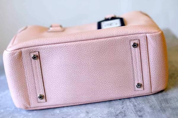 ADMJ エーディーエムジェイ トートバッグ ハンドバッグ 鞄 定番 日本製 レディース レザー 革 ピンク b6571_画像4