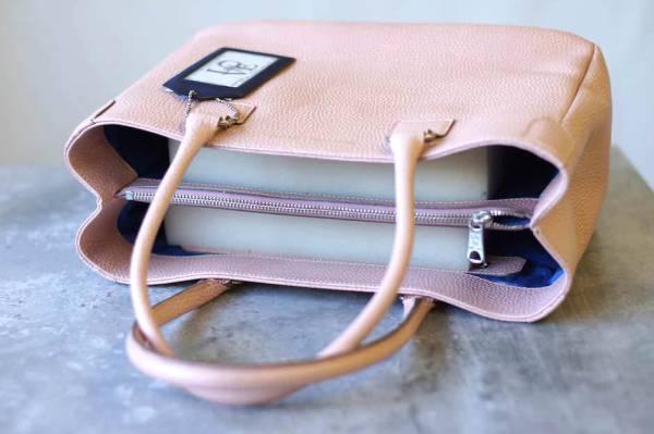 ADMJ エーディーエムジェイ トートバッグ ハンドバッグ 鞄 定番 日本製 レディース レザー 革 ピンク b6571_画像3