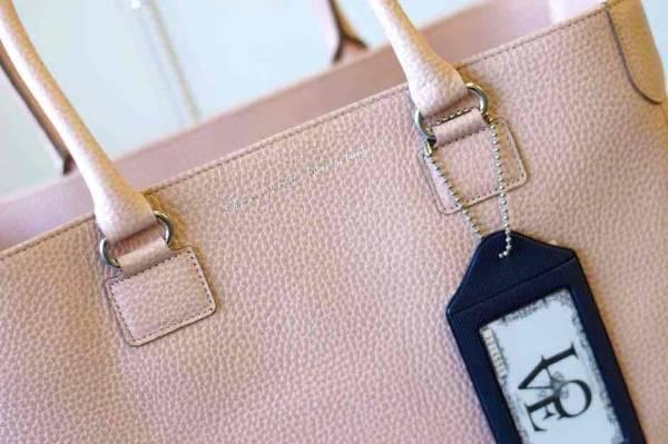 ADMJ エーディーエムジェイ トートバッグ ハンドバッグ 鞄 定番 日本製 レディース レザー 革 ピンク b6571_画像6