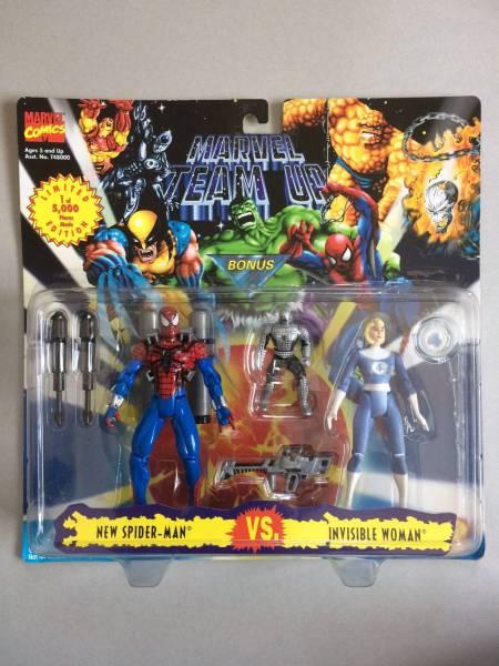 スパイダーマン、インビジブルウーマン(ファンタスティックフォー)、2体セット、NEW SPIDER-MAN vs. INVISIBLE WOMAN (MARVEL TEAM UP) グッズの画像