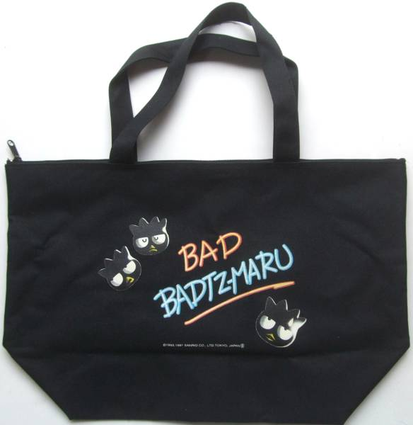1997年製☆バッドばつ丸ジップ付きトートバッグサンリオエコバッグ グッズの画像