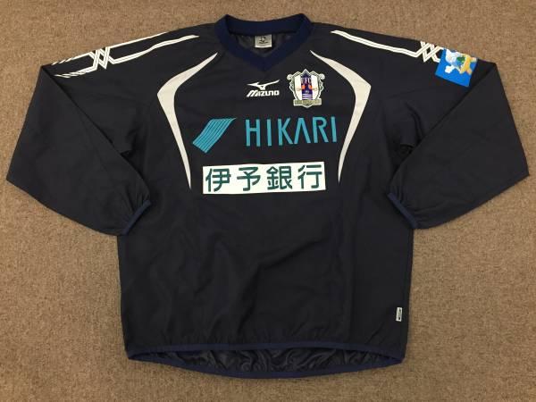 選手支給 2013 J2 愛媛FC MIZUNO・ミズノ 実使用トレーニングトップス・ピステ 練習着ウェアのみ/前身:松山SC・松山サッカークラブ