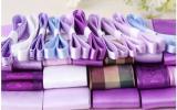 **リボン ラッピング テープ DIY 手芸 素材 材料 ハンドメイド 紫 パープル系セット (おまけ・糸切はさみ&飾りパーツ)**