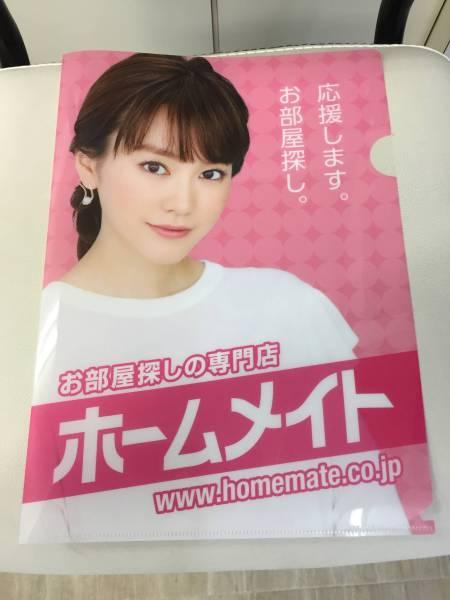 ☆桐谷美玲☆最新バージョン☆A4サイズ クリアファイル ホームメイト 非売品 グッズの画像