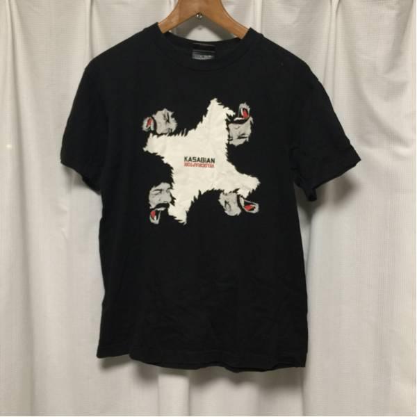 KASABIAN velociraptorツアーTシャツ Sサイズ バンドTシャツ 黒 UKロック oasis libertines arctic monkeys プリント